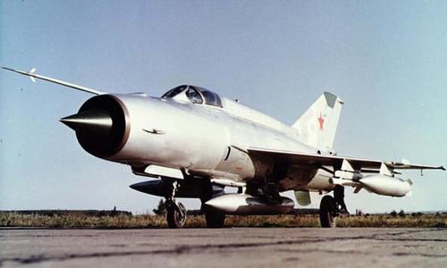 Một tiêm kích MiG-21SM Liên Xô hồi năm 1974. Ảnh: Airwar.