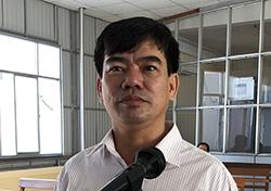 Bị cáo Trần Tuấn Kiệt tại toà. Ảnh: Cửu Long