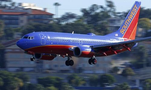 Một máy bay của hãng Southwest Airlines. Ảnh: Reuters.