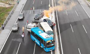 Diễn tập ứng phó tai nạn liên hoàn trên cao tốc Hà Nội - Hải Phòng