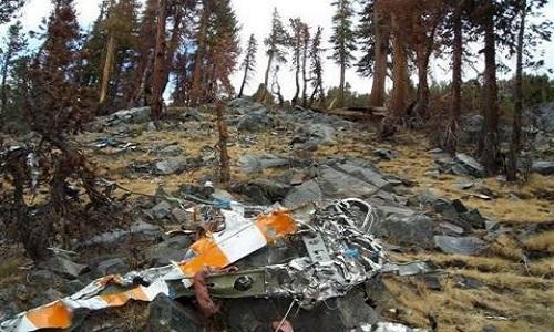 Xác máy bay của tỷ phú Fossett được tìm thấy năm 2008. Ảnh: Sun.