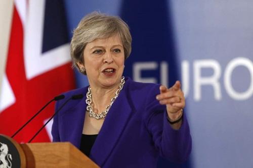 Thủ tướng Anh Theresa May. Ảnh: AP.