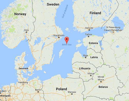 Khu vực biển Baltic. Ảnh: Google.