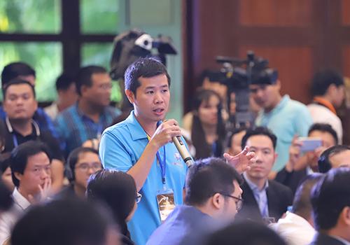 Hàng trăm startup tham dự diễn đàn chiều 29/11. Ảnh: Nguyễn Đông.