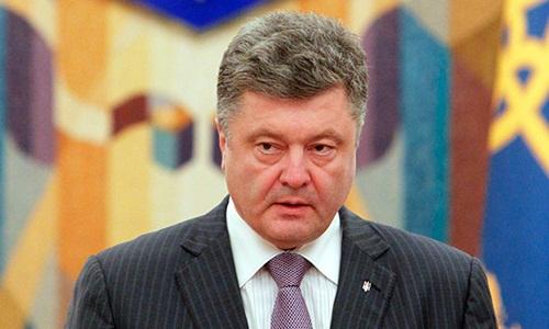 Tổng thống Ukraine Petro Poroshenko. Ảnh: Reuters.