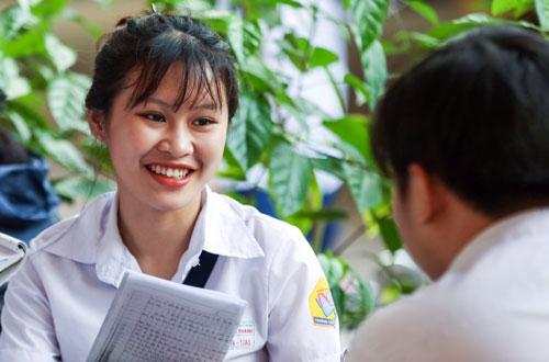 Thí sinh TP HCM dự thi THPT quốc gia. Ảnh: Quỳnh Trần.