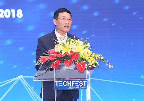 Thứ trưởng Khoa học và Công nghệ Trần Văn Tùng phát biểu tại sự kiện.