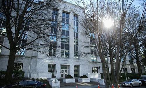 Đại sứ quán Arab Saudi tại Mỹ. Ảnh: AFP.