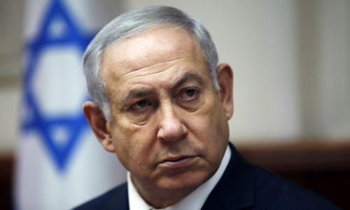 Thủ tướng Israel Benjamin Netanyahu trong cuộc họp nội các ở Jerusalem hôm 25/11. Ảnh: AFP.