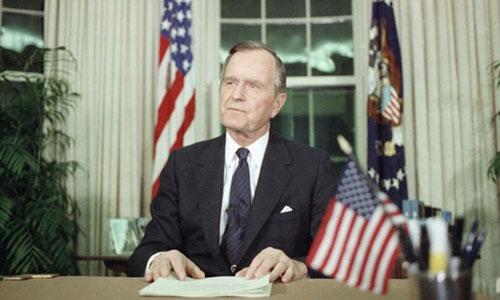 Bush cha khi còn đương nhiệm. Ảnh: AP.