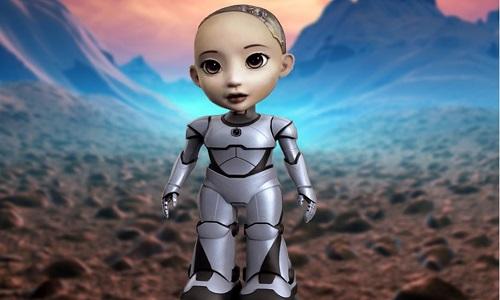 Robot Little Sophia sẽ có cơ thể hoàn chỉnh. Ảnh:Hanson Robotics.