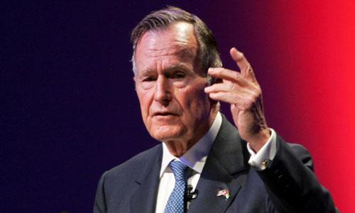 Cố tổng thống Mỹ George H.W. Bush. Ảnh: Reuters.