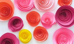 Khéo tay làm hoa trang trí từ giấy