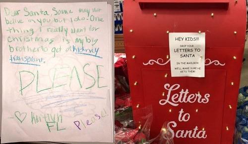 Cô bé Mỹ viết thư gửi ông già Noel xin thận cho anh trai