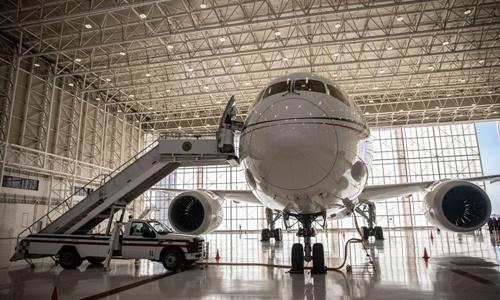 Chiếc Boeing 787 Dreamliner của cựu tổng thống Mexico Enrique Pena Nieto. Ảnh: Bloomberg.