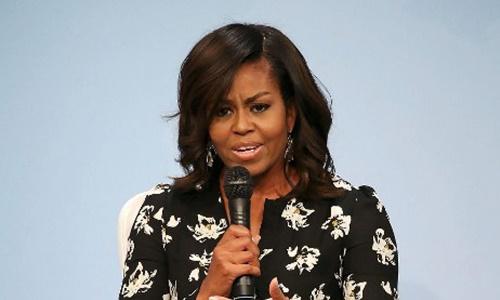 Cựu đệ nhất phu nhân Mỹ Michelle Obama. Ảnh: AFP.