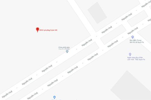 Vị trí trụ sở UBND phường Đoàn Kết.