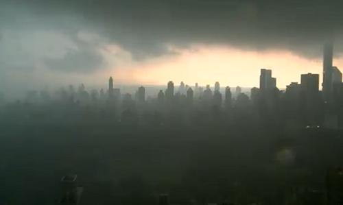 Hình ảnh thành phố New York chìm