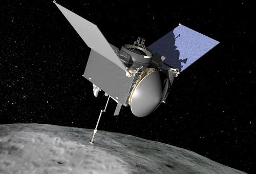 Tàu vũ trụ OSIRIS-Rex tiếp cận thành công tiểu hành tinh Bennu. Ảnh: Wired.