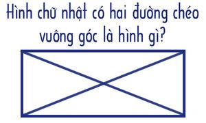 Hình chữ nhật có hai đường chéo vuông góc là hình gì?