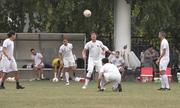 Đội tuyển Philippines phô diễn kỹ năng tâng bóng ở Mỹ Đình