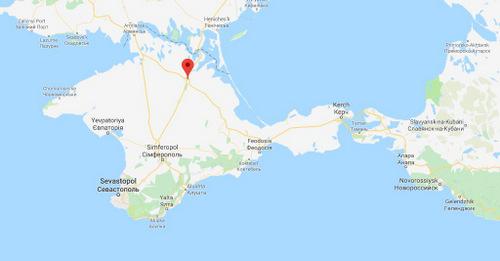 Vị trí sân bay quân sự Dzhankoy trên bán đảo Crimea. Đồ họa: Google Earth.