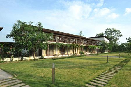 Nhà gia đình ca sỹ Mỹ Linh tại xã Minh Phú, Sóc Sơn. Ảnh: Vân Hương.