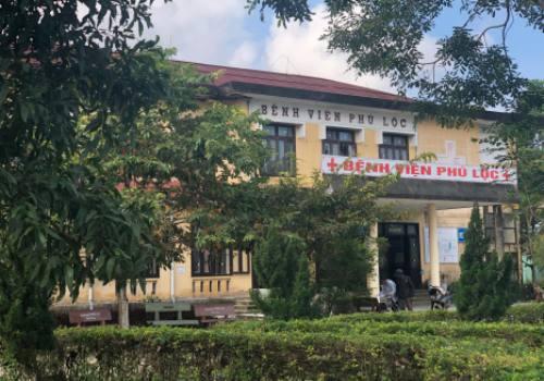 Bệnh viện Phú Lộc, nơi hai mẹ con sản phụ tử vong. Ảnh: V.V