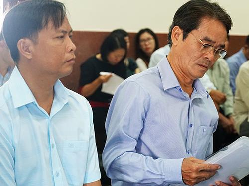 Bị cáo Phạm Thế Tuân và Ngô Văn Thanh. Ảnh: Kỳ Hoa.