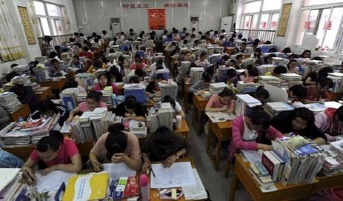 Bên trong một lớp học thêm ở Trung Quốc. Ảnh: Financial Review