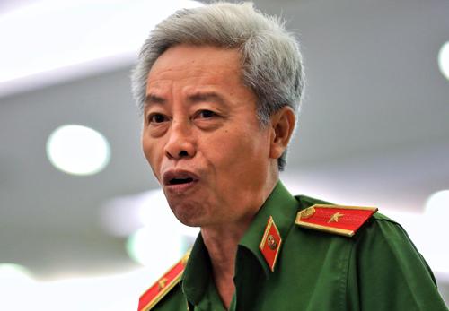 Thiếu tướng Phan Anh Minh, Phó giám đốc Công an TP HCM. Ảnh: Hữu Khoa.