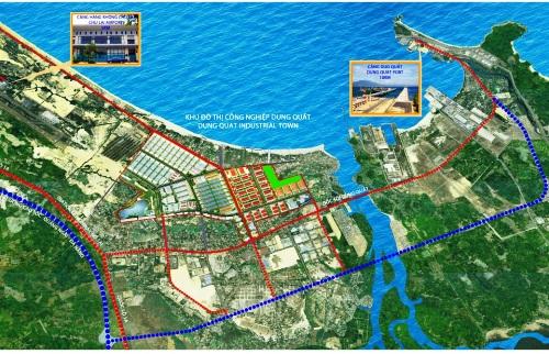 Phối cảnh Khu đô thị công nghiệp Dung Quất. Ảnh: Hoàng Thịnh Đạt.