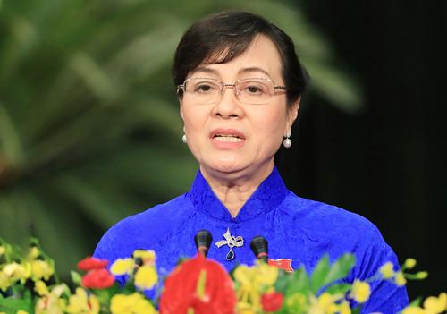 Bà Nguyễn Thị Quyết Tâm, Chủ tịch HĐND TP HCM. Ảnh: Hữu Khoa
