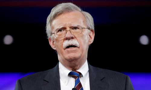 Cố vấn An ninh Quốc gia Mỹ John Bolton phát biểu tại bang Maryland, Mỹ hồi tháng 2/2017. Ảnh: Reuters.