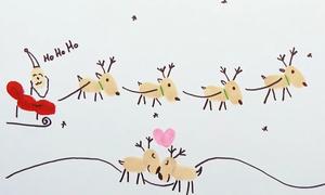 Cách vẽ tranh Giáng sinh với dấu vân tay