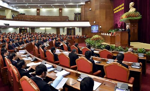 Các đại biểu tham dự Hội nghị Trung ương 8, khóa XII. Ảnh: VGP