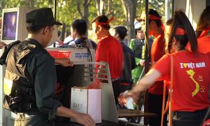 700 cảnh sát cơ động kiểm soát an ninh sân Mỹ Đình