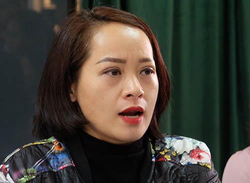 Chị Ngô Thanh Tâm tại buổi họp báo. Ảnh: Quỳnh Trang