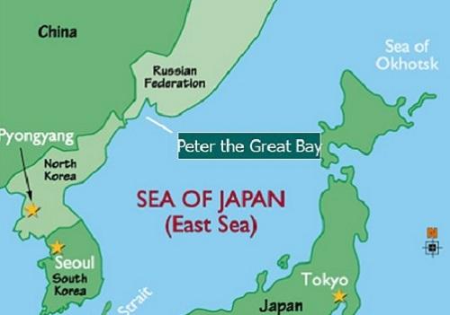 Vị trí vịnhPeter the Great thuộc vùng Viễn Đông Nga. Đồ họa: SlidePlayer