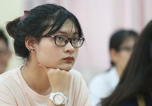 Thí sinh Hà Nội tham dự kỳ thi THPT quốc gia 2018. Ảnh: Ngọc Thành