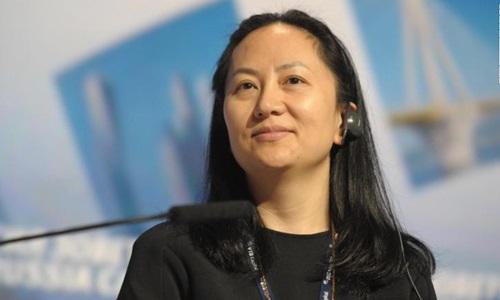 Giám đốc tài chính tập đoàn Huawei Mạnh Vãn Chu. Ảnh: AP.