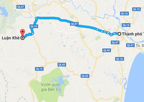 Xã Luận Khê cách thành phố Thanh Hóa khoảng 57 km về hướng Tây.