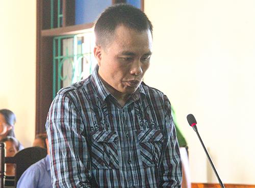 Bị cáo Quân tại phiên xử sơ thẩm. Ảnh: Đức Hùng