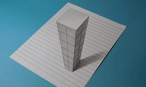 Cách vẽ tòa nhà chọc trời 3D dành cho trẻ