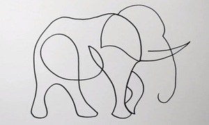 Vẽ con vật chỉ bằng một nét bút