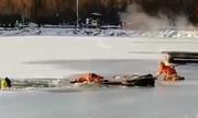 Lính cứu hỏa thiệt mạng khi giải cứu người kẹt giữa hồ băng Trung Quốc