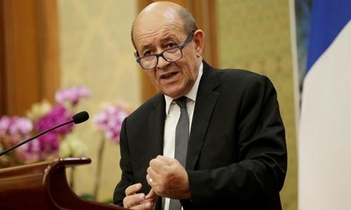 Ngoại trưởng Pháp Jean-Yves Le Drian. Ảnh: Reuters.