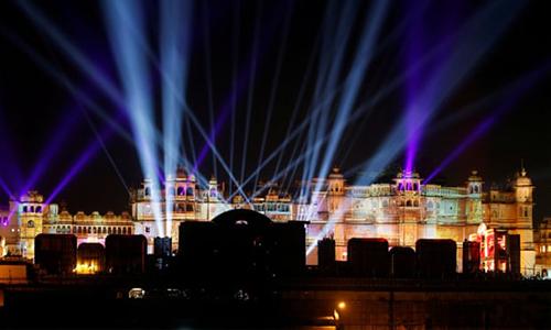 City Palace ở Udaipur, một trong những địa điểm tổ chức các buổi lễ tiền đám cưới của Isha Ambani. Ảnh: Reuters