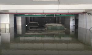 Hút nước cứu hơn 10 ôtô ngập trong hầm ở Đà Nẵng