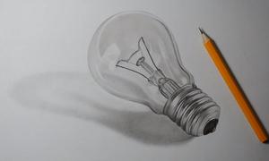 Dạy trẻ vẽ bóng đèn 3D